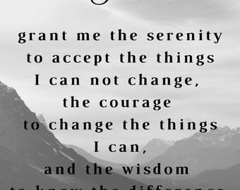 Serenity Prayer Instant Download