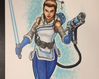 "Mash-up of Rey/Mei ""Rei"" illustrated by Sergio Azevedo"