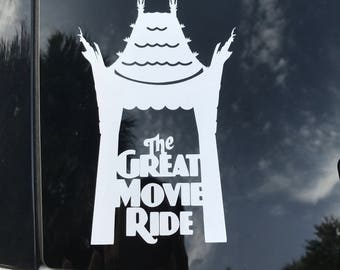 The Great Movie Ride Car Decal