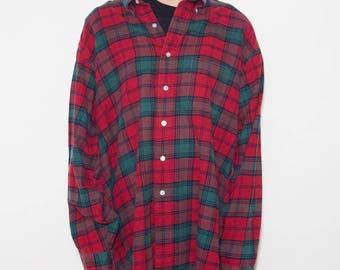 Flannel Shirt, Plaid Shirt, 90s Plaid, LL Bean, 90s Grunge, Red Flannel, 90s Shirt, Lumberjack, Button Up Shirts, Hipster, Unisex, Mens