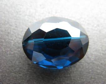 London Blue Quartz Faceted Focal Bead, Blue Quartz Focal Bead, Blue Glass Focal Bead, Heaven's Garden Jewelry Design Destash, OOAK - HGD2139