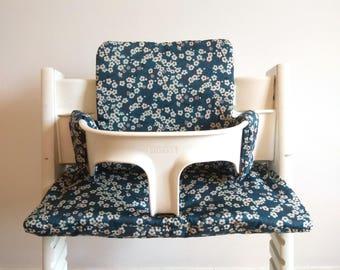 Chair cushion high stokke - tripp trapp mistsy liberty blue
