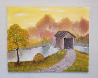 Covered Bridge titled Yellow Sky