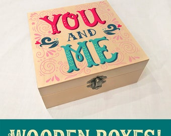 You and Me Wooden Box
