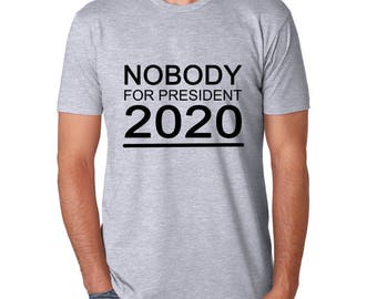 Nobody for President Mens Anarchy T-Shirt