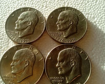 Set of five Eisenhower Bicentennial Dollars