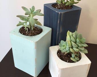 Wooden Succulent Holder, Candle Holder