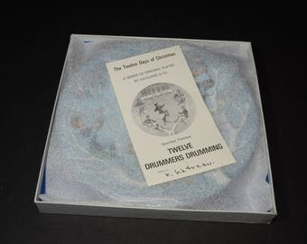 "1981, Haviland, Limoges, France, Series of the 12 Days of Christmas, ""Twelve Drummers Drumming"", new, in original box, collector plate"