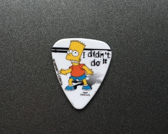Needle Minder or Magnet: Bart Simpson Guitar Pick