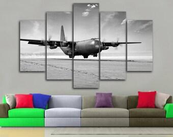 Aircraft Canvas Aircraft hercules c-130 Aircraft print Aircraft Wall Decor Aircraft poster Airplane Decor Aircraft Decor Aviation Wall Decor