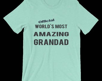 Grandpa T Shirt, Great For Grandpa's Birthday, Christmas, etc. Grandpa's Own Personalized Tee Shirt, A Humorous Joke Gift For Your Grandad