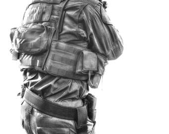 SWAT black & white, SWAT Poster, police gifts, Wall art, Law enforcement, Poster prints, Download,