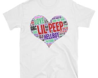 Lil Peep HELLBOY Shirt / Hell Boy Word Cloud / gothboiclique tshirt
