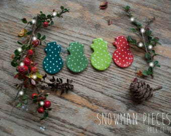 Christmas Snowman Assortment Clay Pieces (10x Pack)