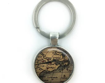World map keyring etsy vintage world maps keyring world map keyring wedding gift anniversary gift housewarming gumiabroncs Image collections