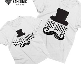Big Dude Little Dude, Father son matching shirts, Father son shirts, Matching father son shirts, Daddy and me shirts, Screen-printed
