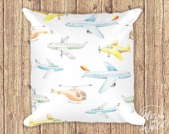 Airplane Pillow, Airplane Cushion, Airplane Nursery, Planes Nursery, Nursery Pillow, Helicopter Pillow, Helicopter Cushion, Throw Pillow