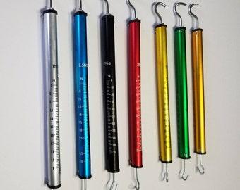 Dynamometer Aluminium 7 Set Spring Balance High Resolution 1N 2.5N 5N 10N 20N 30N 50N