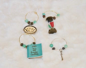 Beauty and the Beast Wine Charms