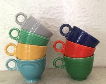 Vintage Fiestaware tea/coffee cups