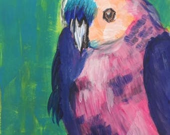 "Bird Portrait Art Print 8"" x 10"""