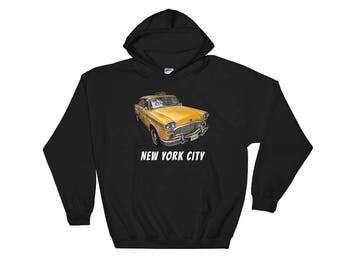 New York City Classic Checker Taxi Cab Hooded Sweatshirt