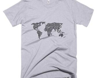 Carolina shirt north carolina shirt nc shirt north carolina world map t shirt unisex map t shirt mens world map shirt gumiabroncs Images