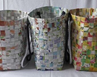 Bag made of recycled packaging