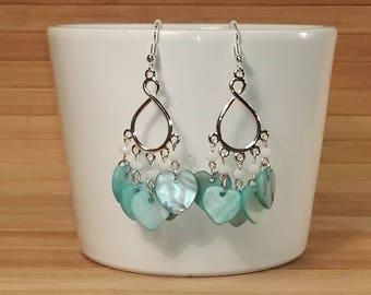Earrings - Chandelier - Pearl blue