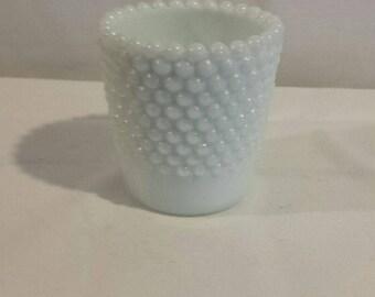 Vintage Milkglass Hobnail Votive
