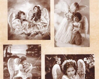 Scrapbook paper - Angels praying - by  Nellies Choice