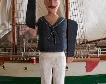 19th Century Signal Sailor Whirlygig – Folk Art Carving