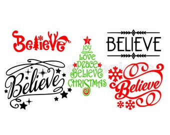 Believe Christmas SVG FILE