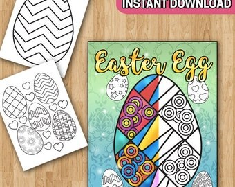 SALE Easter Egg Coloring Book with Easter Coloring Pages (Easter Activities for Toddlers, Easter Coloring Sheets, Easter Basket Stuffers)