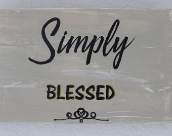 Simply Blessed Pallet Wood Sign - Wall Decor - Gifts Under 25