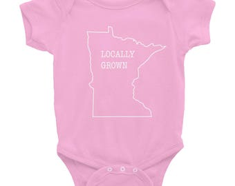 Locally Grown - Minnesota Funny Baby/Kids Gift T-Shirt Infant Bodysuit
