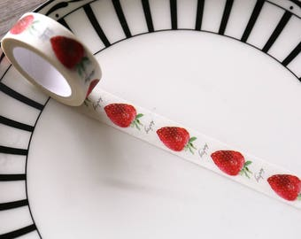 Strawberry washi tape,Sweet Strawberry Washi Tape,Masking adhesive tape,food washi tape, cute strawberry washi tape