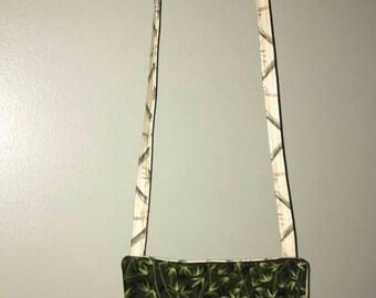 Crossbody bag, cell phone bag, palm trees, handmade