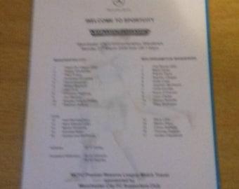 Manchester City v Wolverhampton Wanderers Reserves Team Sheet - 21/3/2005