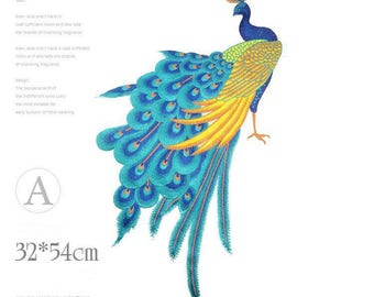 peacock patch/peafowl patch/sew on patch/Christmas gifts/embroidered applique/Christmas for girlfriend /mom/best friend