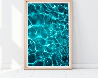 Superieur Turquoise Wall Art, Abstract Art Prints, Modern Ocean Print, Blue Wall  Decor,