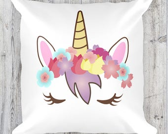 Unicorn Pillow, Unicorn cushion, Unicorn bedding, unicorn bedroom, unicorn nursery, Unicorn Decor, Unicorn Bedroom, Decor, Unicorn Gift