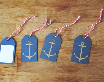 Golden Nautical Gift Tags (10 pack)