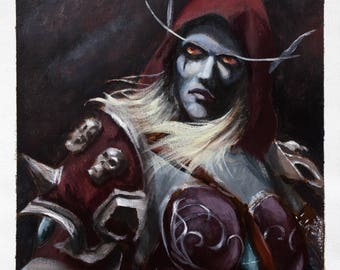 Acrylic Portrait of Sylvanas