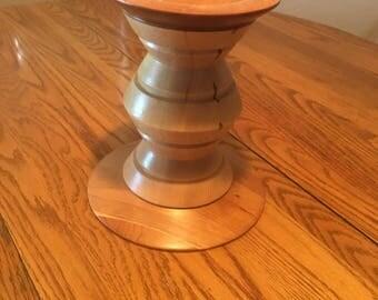 Segmented Wood Candle Holder