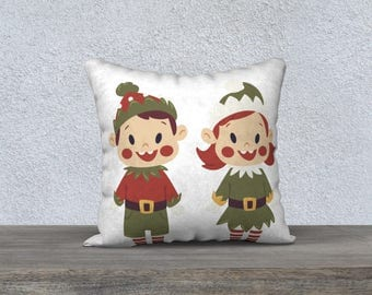 "Decorative pillow cover ""Goblin & Pixie"" cushion for child, children's room, home decor, decoration for child"