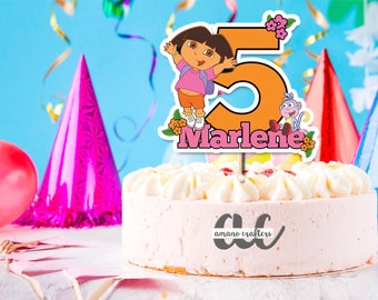 dora the explorer cake topper kids cake topper birthday party decorations printable - Printable Pictures Of Dora The Explorer