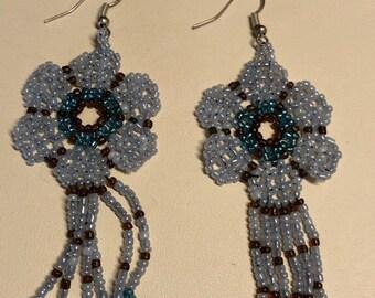 beaded dangling earrings