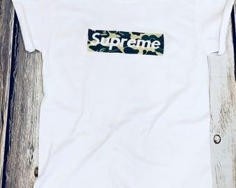 Supreme X Bape box logo shirt