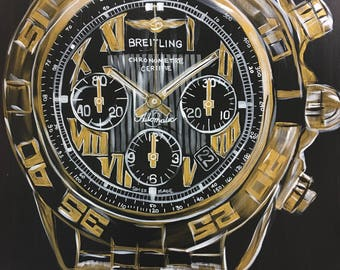 Breitling Watch Chronometre Gold